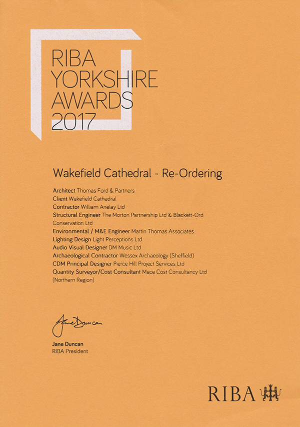 Wakefield Cathedral RIBA Award 2017