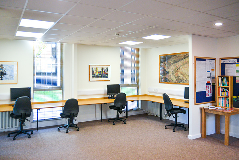 Interior of Canford School Staff Common Room